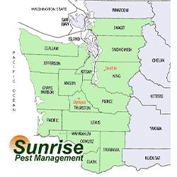 Sunrise Pest Management | Washington Map