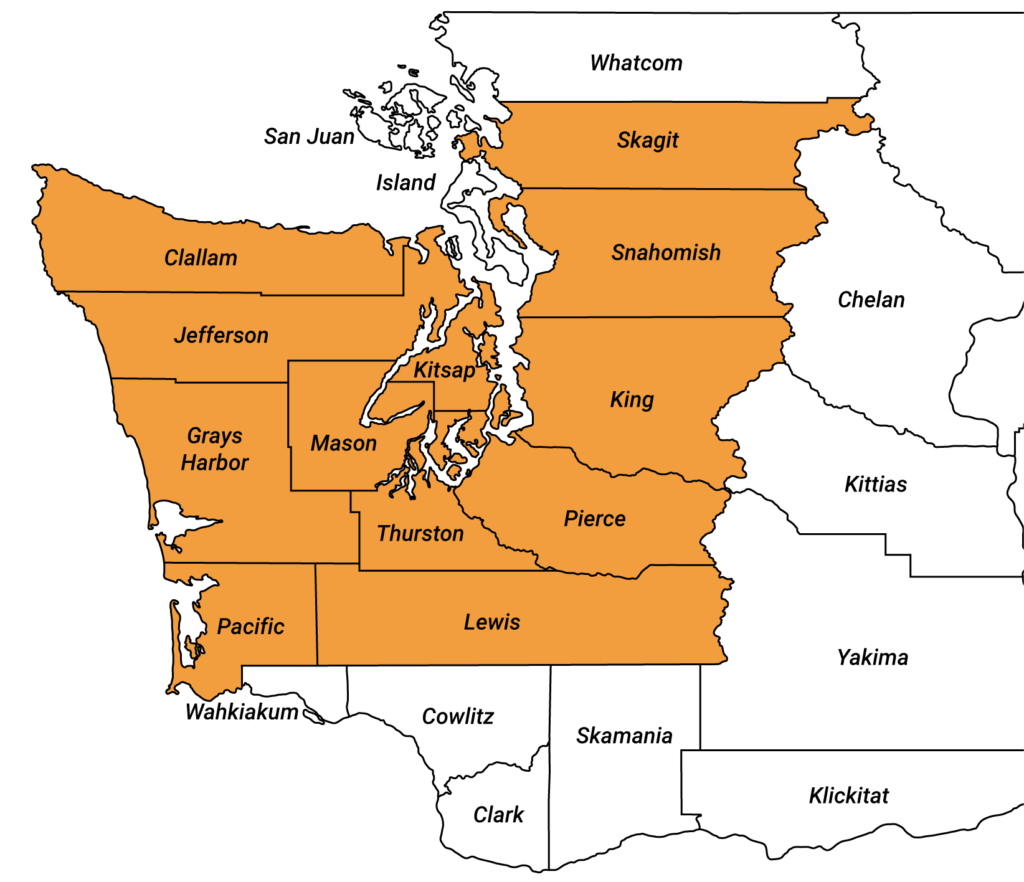 Washington Map of Service Areas